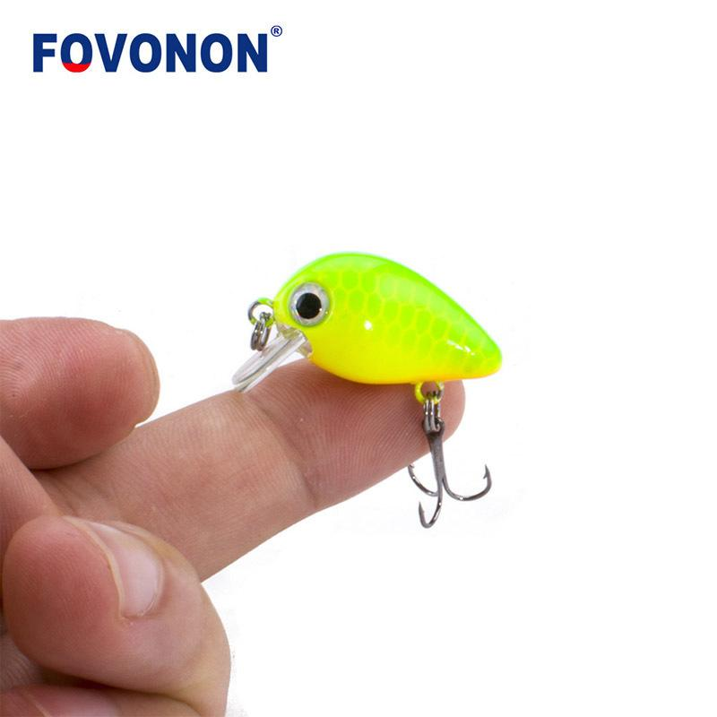 20pcsFovonon New Fishing 3cm 1.8g Crankbaits 1pcs Micro Hard Pesca Artificial Baits Mini Lure Minnow For Pike Bass Trout C19041201