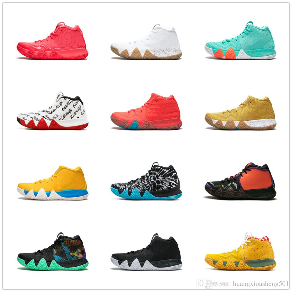b2cd80f5c3adb 2019 Kyrie IV Green Lucky Charms Mens 2018 All New Basketball Shoes For Sale  Irving 4 Sports Training Sneakers Wholesale Drop Ship From  Huangxioasheng501