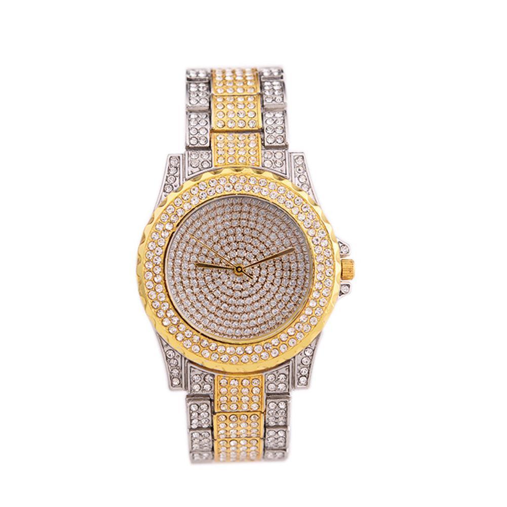 Banda Lintimes Aleación Rhinestone Shimmer Moda Encantador Pulsera Mujer Reloj Elegante De Cuarzo K1lJTc3F