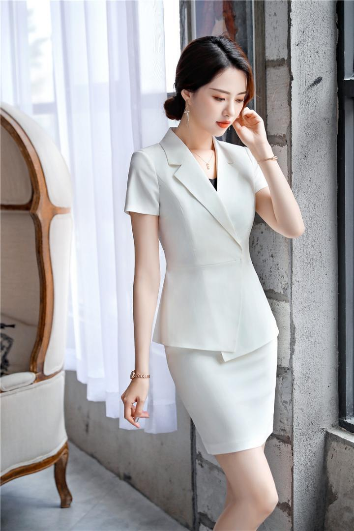 8b202ff9f328 2019 2019 Spring Summer Business Work Suits With Tops And Skirt For Ladies  Office Blazers Women OL Styles Blazers Suits Elegant White From Wenshicu,  ...