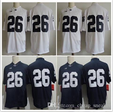 5de6afe0721 2017 Penn State Nittany Lions Jersey 26 Saquon Barkley No Name Navy ...