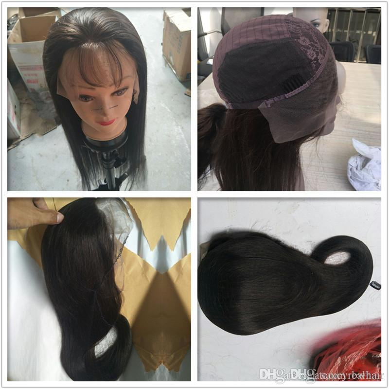 Perruques de cheveux humains Straight Wave