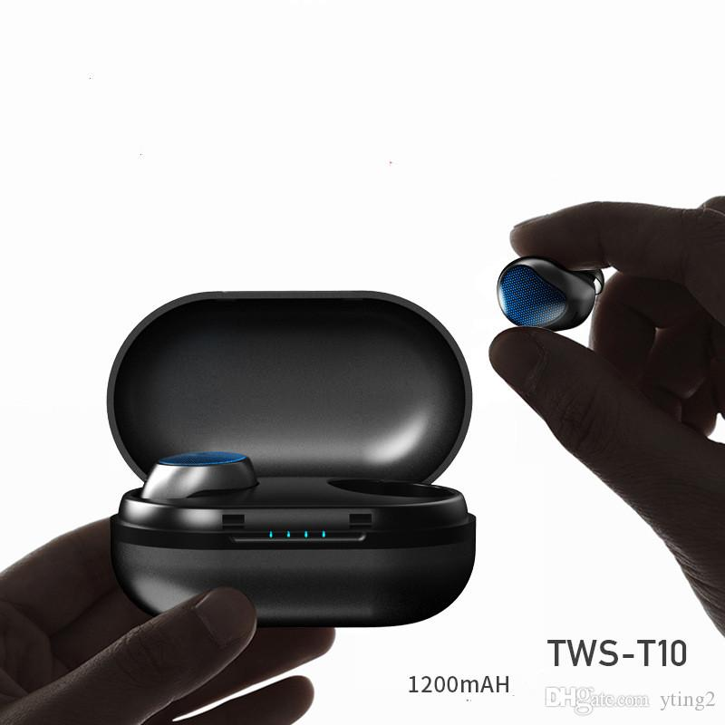 Neues Business-Headset TWS-T10, binauraler Privatmodus, Sport-Bluetooth-Headset, drahtlose In-Ear-Verbindung, Bluetooth-Headset, Ohrenpaare, 5,0