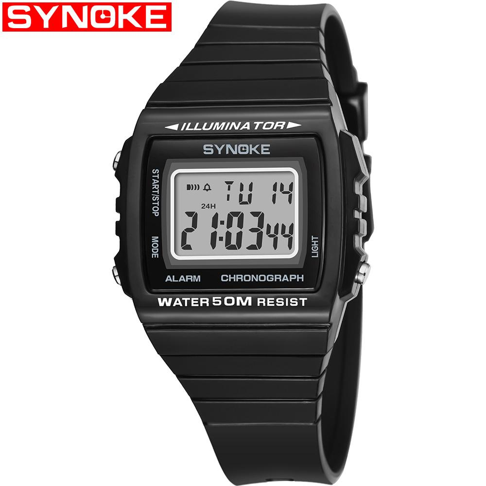 Best Selling LED Digital Women Men Watches 50m Waterproof Student Couple Electronic Watch with Adjustment Sports Outdoor Wristwatches Clock