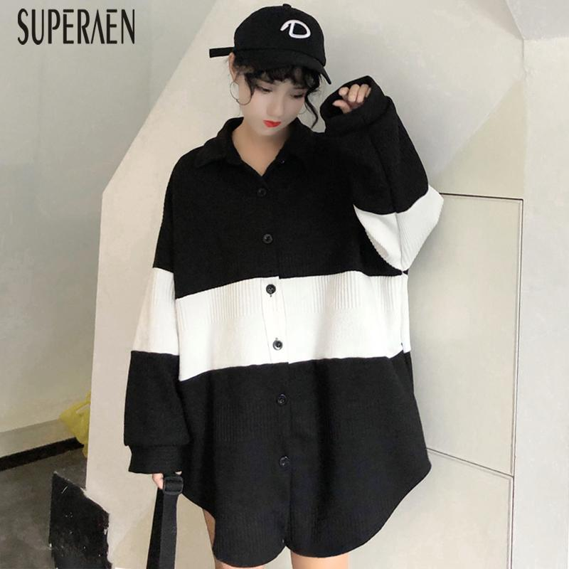 2019 SuperAen 2019 Spring New Korean Style Women Sweater Coat Wild Casual  Fashion Sweater Female Long Sleeve Women Clothing From Instachic, $43.72