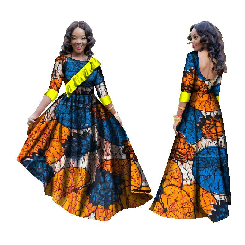 445d704c75 2019 African Dresses for Women Dashiki African Print Clothing Half ...