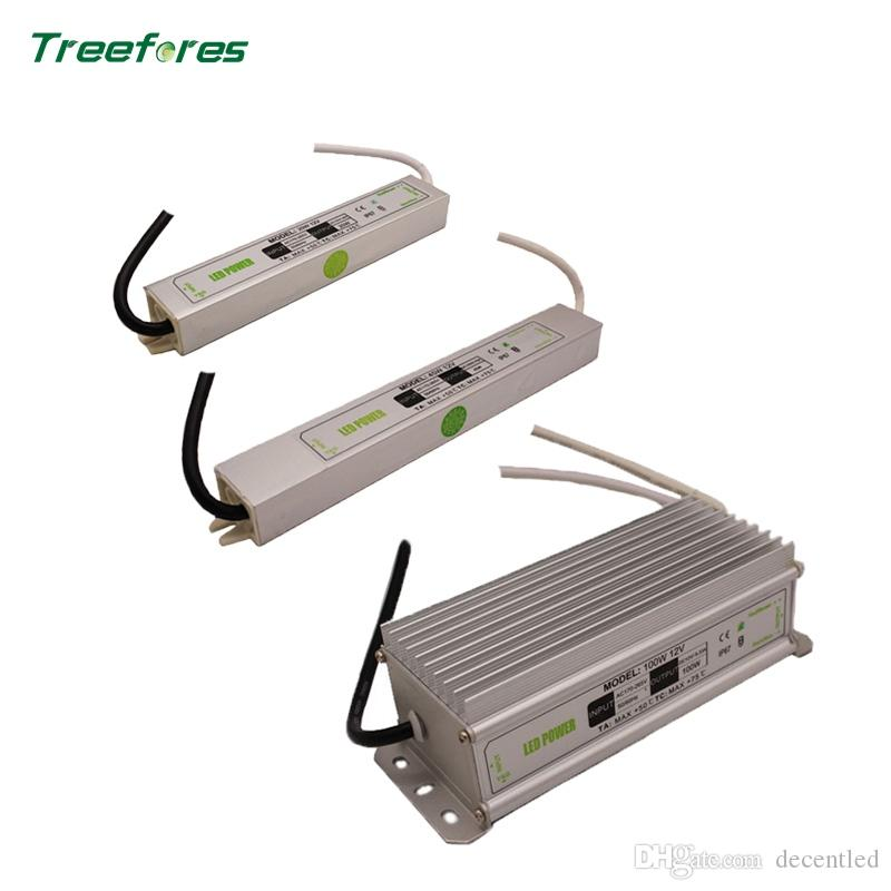 IP67 Waterproof DC12V 20W 45W 100W AC170-265V Lighting Transformers LED Driver Power Adapter For LED Strip Light Switch Power