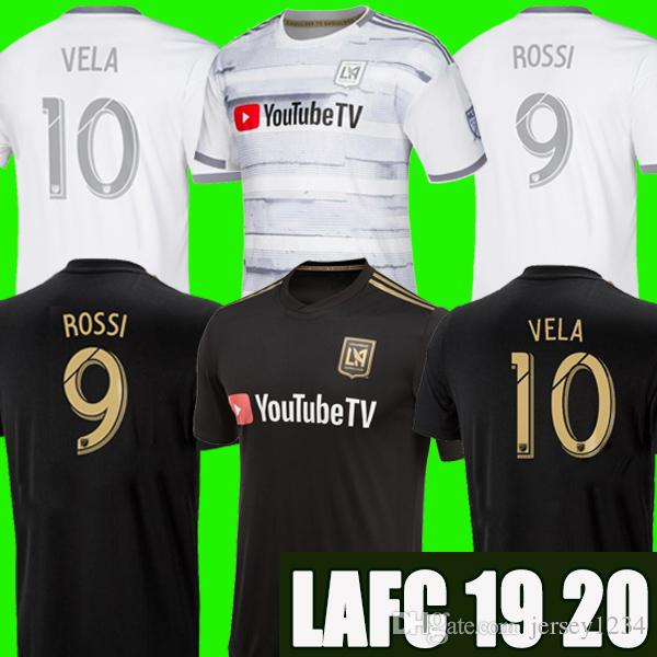 detailed look ea703 cf81c MLS 2019 LAFC Carlos Vela Soccer Jerseys 18 19 20 Home X ZELAYA ROSSI Los  Angeles FC Black Parley Primary WHITE Football Shirts