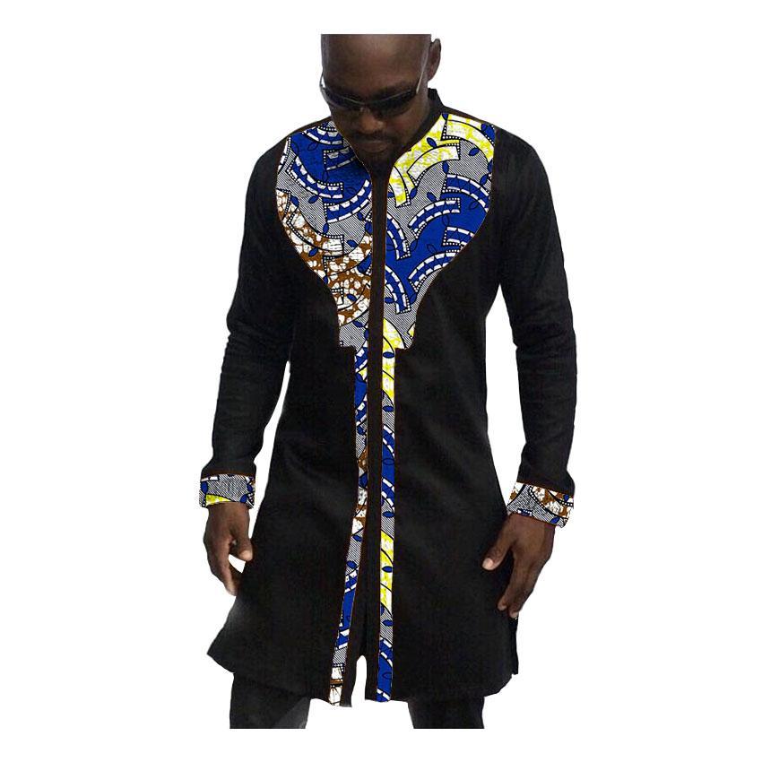 promo code e0984 0bb22 Camicia uomo stampa africana moda uomo vestito camicia maschile dashiki  cotone ankara e camicia patchwork stile lungo patchwork personalizzato