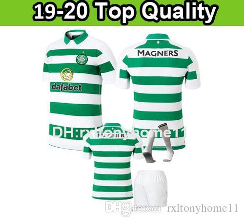 buy popular 5033e 39bfc new 2019 2020 Celtic kids kit SOCCER JERSEY men 19 20 HOME TIERNEY child  MCGREGOR BENKOVIC boy WEAH BURKE EDOUARD CHRISTIE GRIFFITHS adult