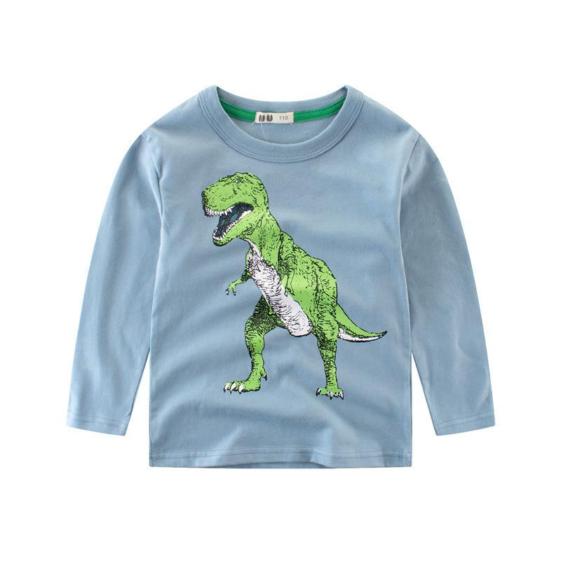 0499760fa 2019 Fashion Brand Boys T-shirt Boys T-shirt with Long Sleeves Baby Boys T-shirt  Kids Cotton Dinosaur 4-14T Children's Clothing Online with $29.36/Piece on  ...