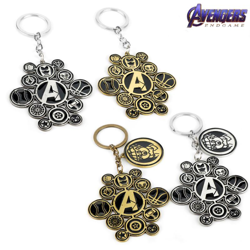 Marvel Jewelry The SuperHero Logo Style Metal Pendant Keychains 4:Endgame Key chain Movie Fans Women Men Gift
