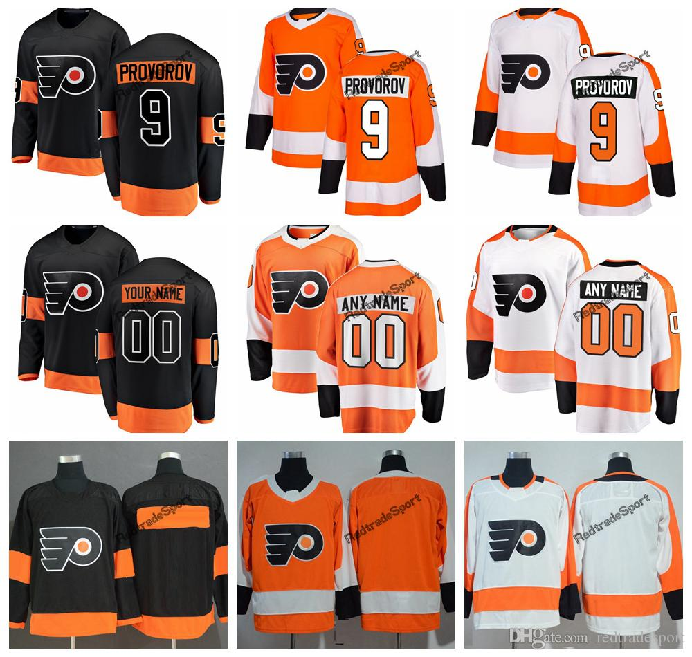 2019 Philadelphia Flyers Ivan Provorov Hockey Jerseys Mens Custom Name New  Alternate Black  9 Ivan Provorov Stitched Hockey Shirts S XXXL UK 2019 From  ... 499ce4af5