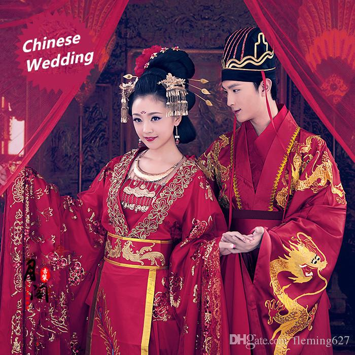 2c6fc0a9b 2019 Chinese Style Hanfu Lover Red Wedding Dress Ancient China Hanfu  Clothing Tang Dynasty Glorious Film TV Same Genre Couple Costume From  Fleming627, ...