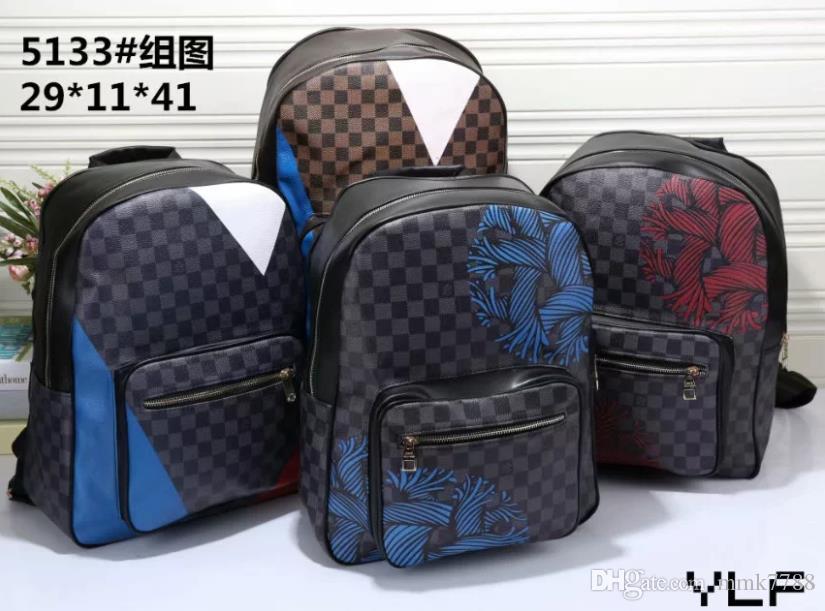High quality PU Europe men bag designers handbags backpack women's school bag Backpack Style backpacks brands free shipping 7863