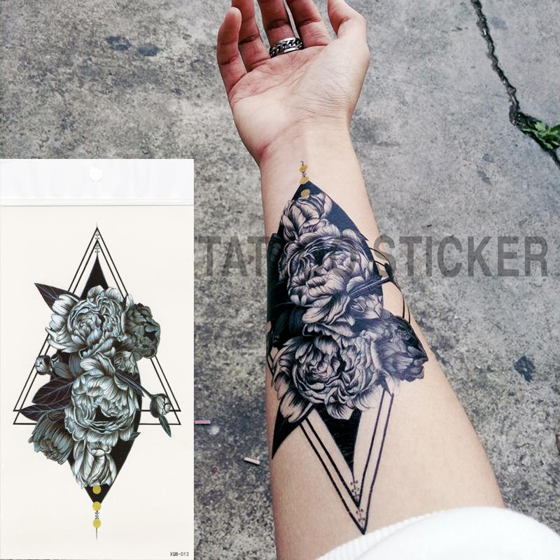 Small Full Flower Arm Temporary Waterproof Tattoo Stickers Fox Owl ...