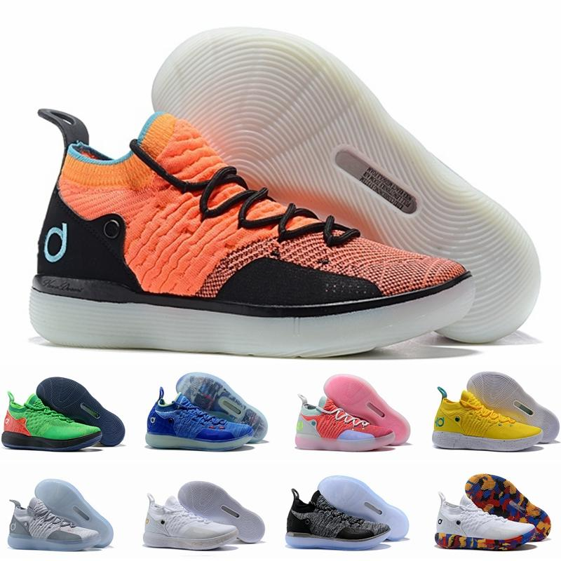76d719b48b1d 2019 2019 Hot KD 11 EP White Orange Foam Pink Paranoid Oreo ICE Basketball  Shoes Original Kevin Durant XI KD11 Mens Trainers Sneakers Size 40 46 From  ...