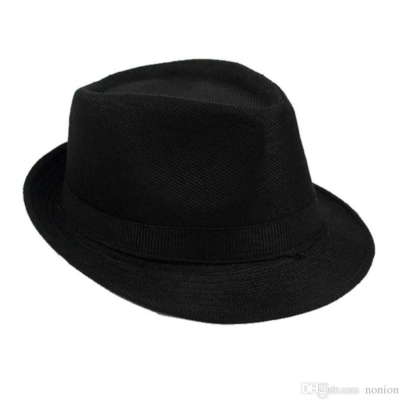 192770fa 2019 Fashion Wide Brim Panama Fedora Hats For Women Men Jazz Caps Unisex Top  Beach Visor Hat Straw Cap From Nonion, $14.9 | DHgate.Com