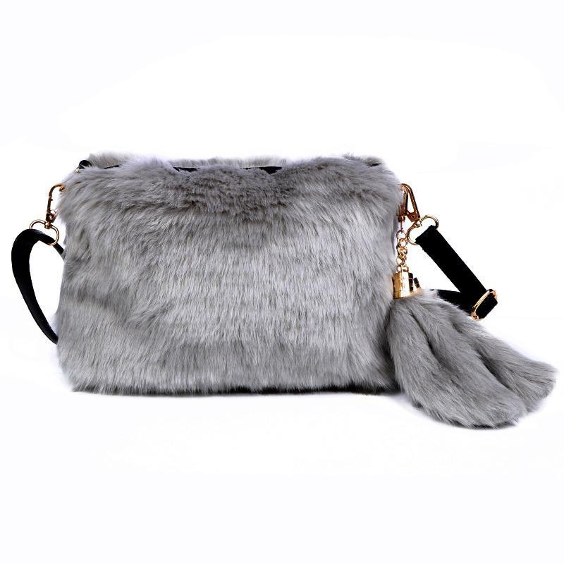 Faux Fur Women Handbags Flap Tassel Plush Purse Winter Portable Fur Bag  Fashion Female Cross Body Shoulder Bag ZD796 Online with  37.24 Piece on  Bijin s ... 57042437ec5f2