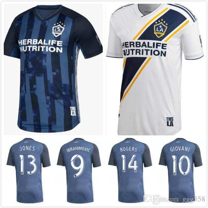 new concept 31d27 be147 2019 2020 Thailand MLS La galaxy zlatan IBRAHIMOVIC Soccer Jerseys 19 20  Los Angeles Galaxy away Blue GIOVANI J.DOS SANTOS Football Shirts