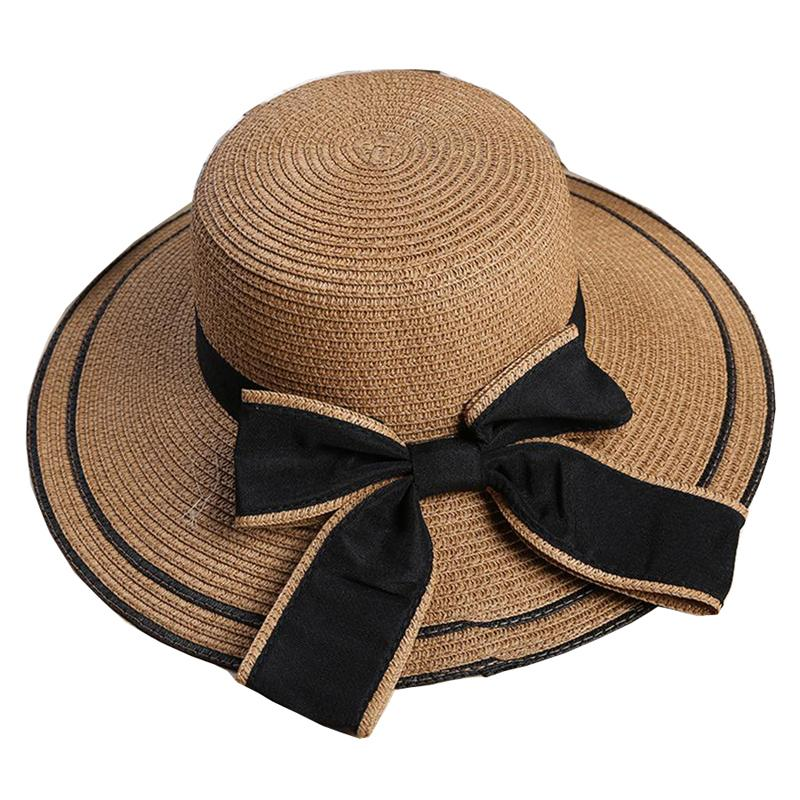 60e4683f25d Summer Hats For Women Straw Beach Hat Bow Straw Hat Wide Brim Sun Hats Women  Winter Hat Hat Cap Online with $15.15/Piece on Sunglasses998's Store |  DHgate. ...