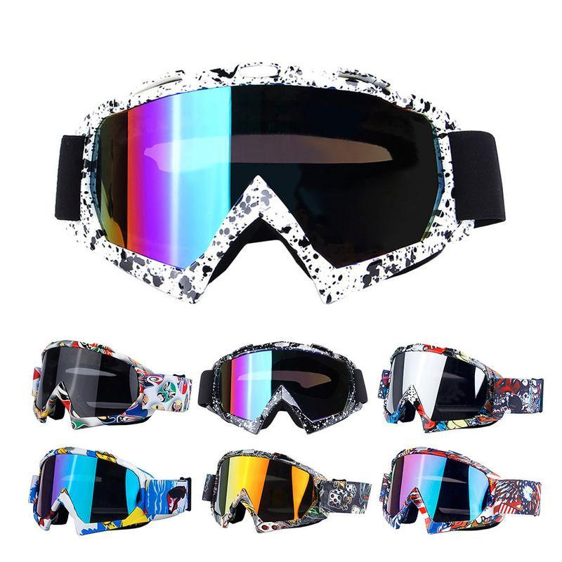 Adult Graffiti Tinted Ski Snowboard Motorcross goggles UV protection Tint Lens