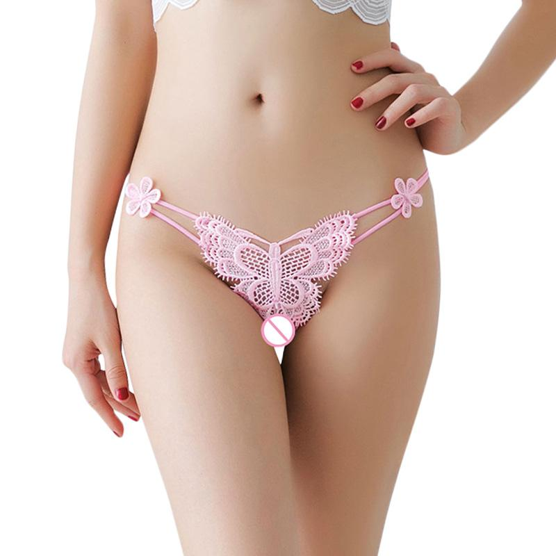 6eefbf5d4bb 2019 Sexy Women Sheer Lace Thongs Butterfly Embroidery Beads G String T  Back Lingerie Briefs Panties For Women New Fashion Underpants From Chikui