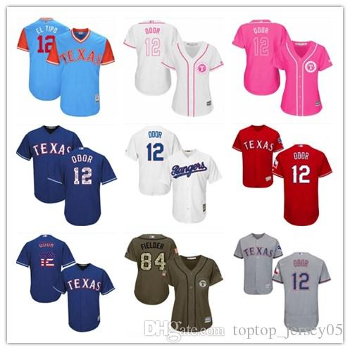 816528145f8 2018 top Texas Rangers Jerseys  12 Rougned Odor Jerseys men WOMEN YOUTH Men s  Baseball Jersey Majestic Stitched Professional sportswear