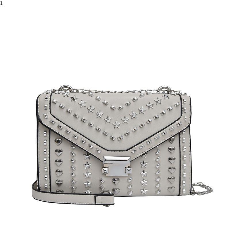 3378b1da3754 Women Fashion Handbag Beautiful Lady Rivet Crossbody Bag Elegant Pu Leather  One Shoulder Bag High Quality Shopping Messenger Bag Backpack Purse Bags  For Men ...