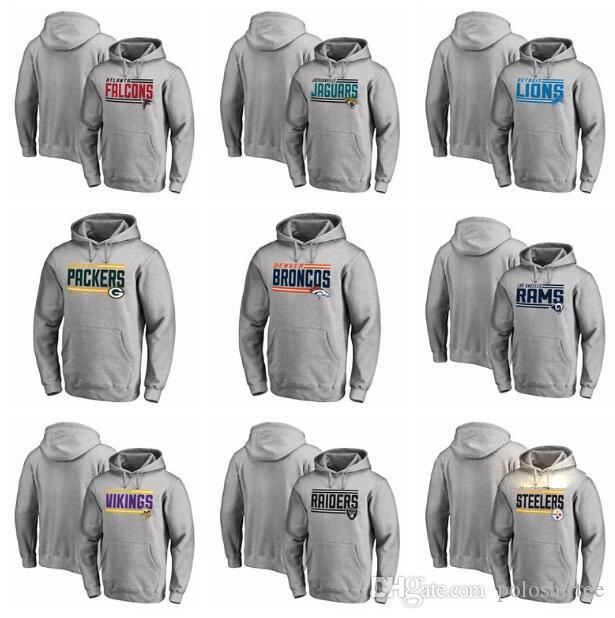the latest 3d00d 14baa Falcons Pittsburgh Steelers Denver Broncos Green Bay Packers Minnesota  Vikings Oakland Raiders On Side Stripe Big & Tall Pullover Hoodies