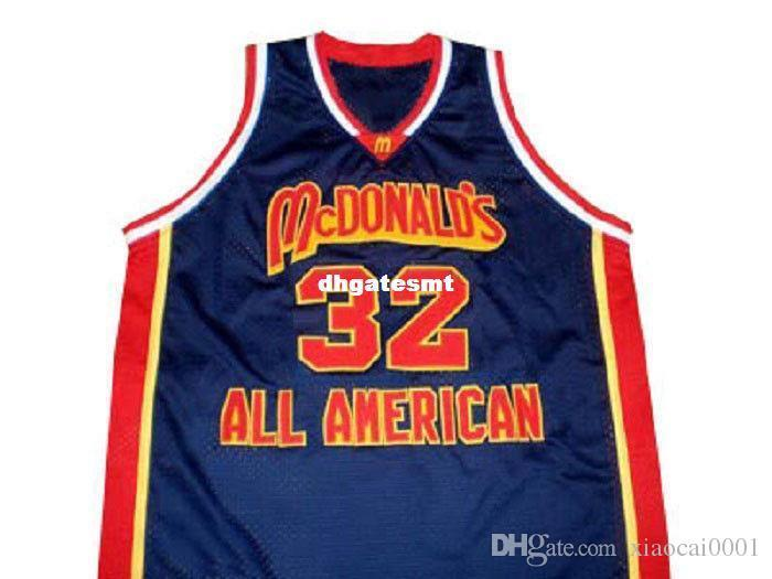 official photos 9921a d5a3f Cheap Mens Blue LEBRON JAMES McDONALD ALL AMERICAN JERSEY MCDONALD S BLUE  NEW ANY SIZE XS - 5XL Retro Basketball Jerseys