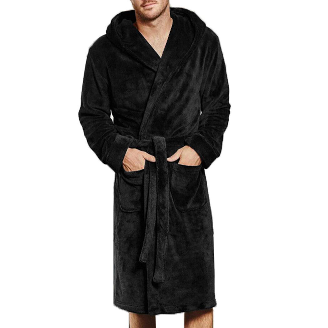 a4dc285edd107c Novo Inverno Roupão de Banho Dos Homens Quente Flanela Macia Toalha de Lã  Longo Plus Size 4XL Sono Lounge Robe Roupão de Banho Roupão Macho Robes