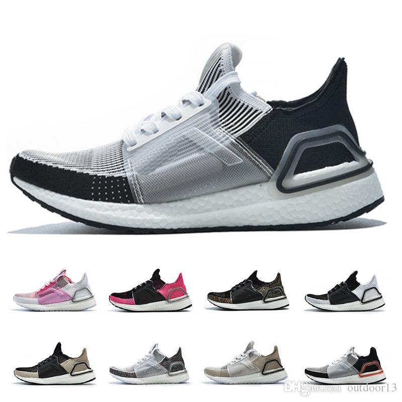 online store 70a1d 1e62e Ultra Boost 19 5.0 Women Mens Running Shoes Ultraboost 19 Undefeated Cloud  Black White Oreo Trainers Breathable Sports Designer Sneakers