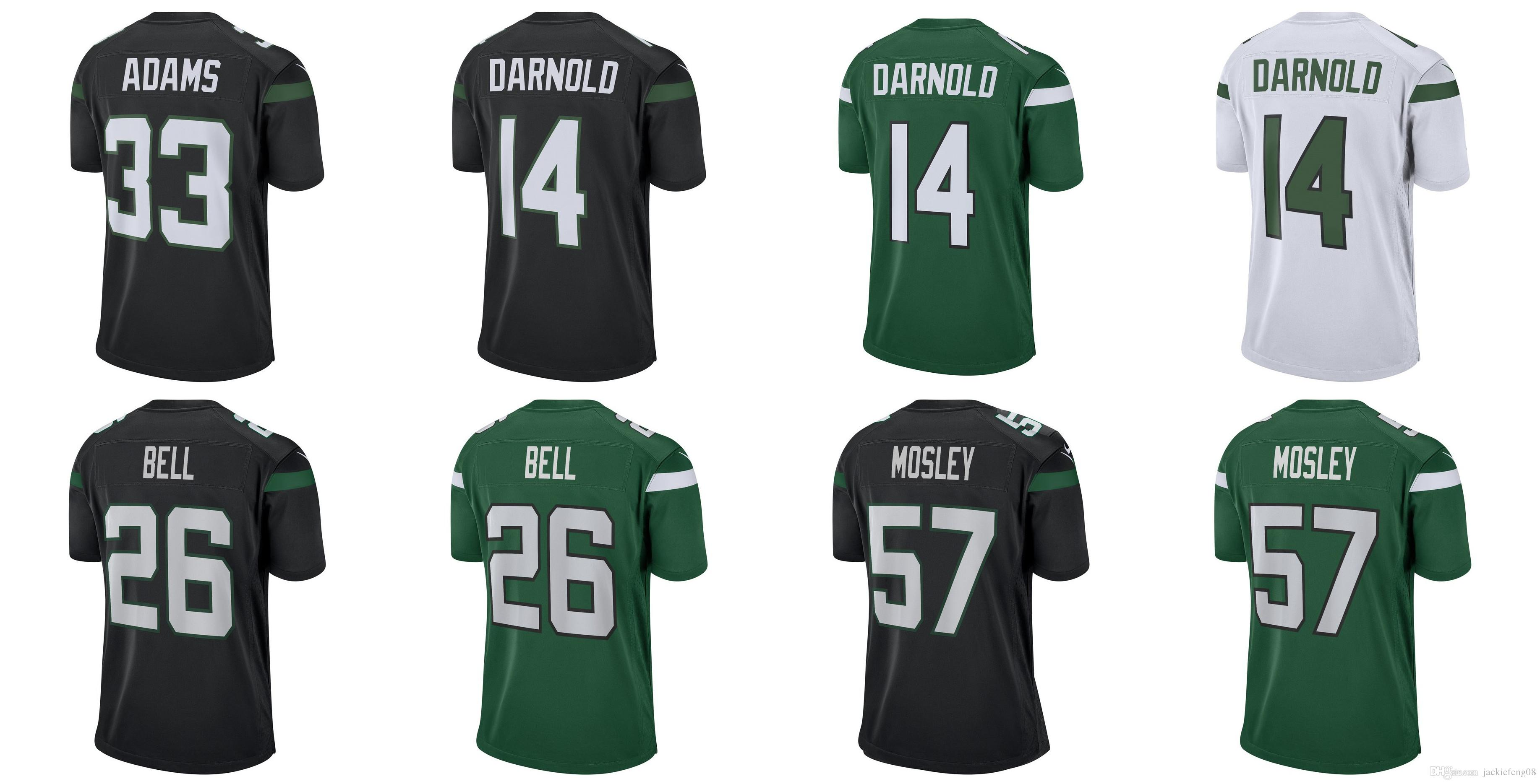 reputable site 81e21 16569 26 Bell jerseys 57 mosley Jets 14 Sam Darnold jersey new 2019 New York 33  Jamal Adams