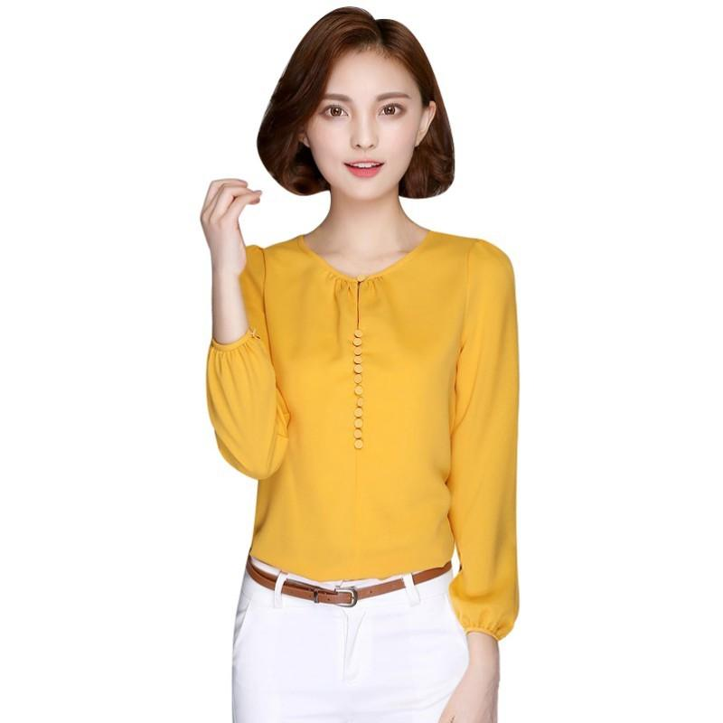 c4d059919f9e8 2019 2017 New Fashion Autumn Women Casual Blouses Long Sleeve Chiffon  Blouse Shirt Korean Loose Elegant Ladies Blusas Tops From Fafachai09
