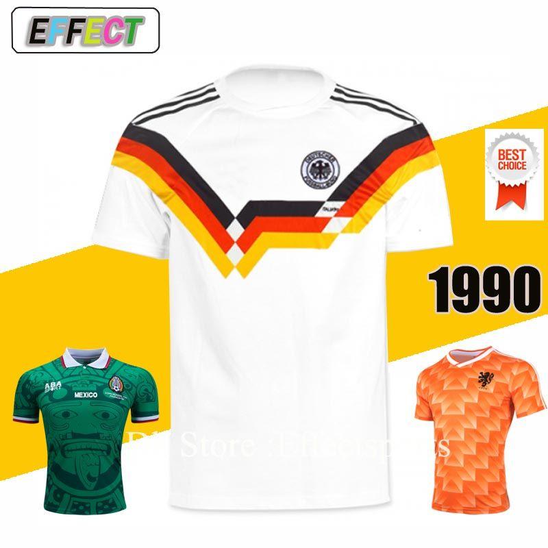 Compre Tamanho XXL Retro 1990 World Cup Alemanha VINTAGE CLÁSSICO KLINSMANN  Matthäus Camisas De Futebol Casa Branco Top Thai AAA + Camisas Camisas De  ... e2917f3aede74