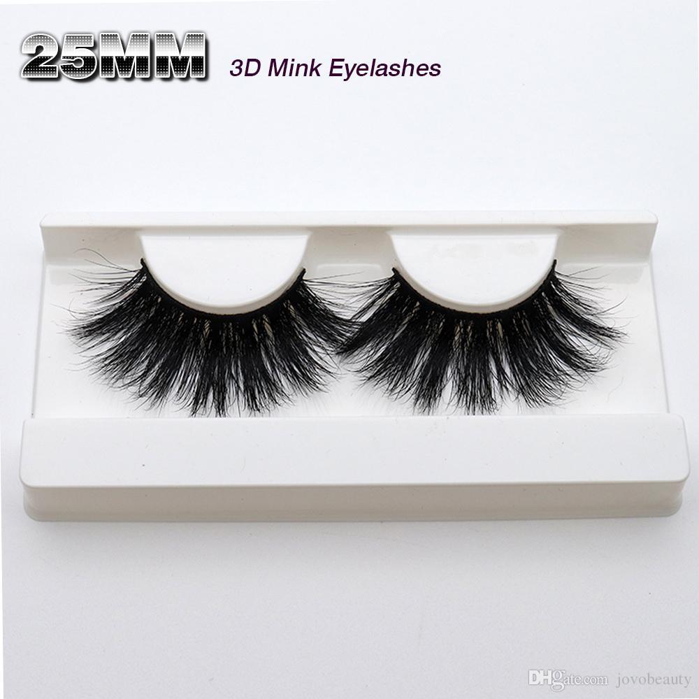 29d8b8e9e59 JOVOBEAUTY 100% 25MM Soft Natural Long Crisscross Full Strip 3D Mink Eyelash  Extension Glitter Box Packaging Eyelash Extensions Sydney Eyelashes Grow  Back ...