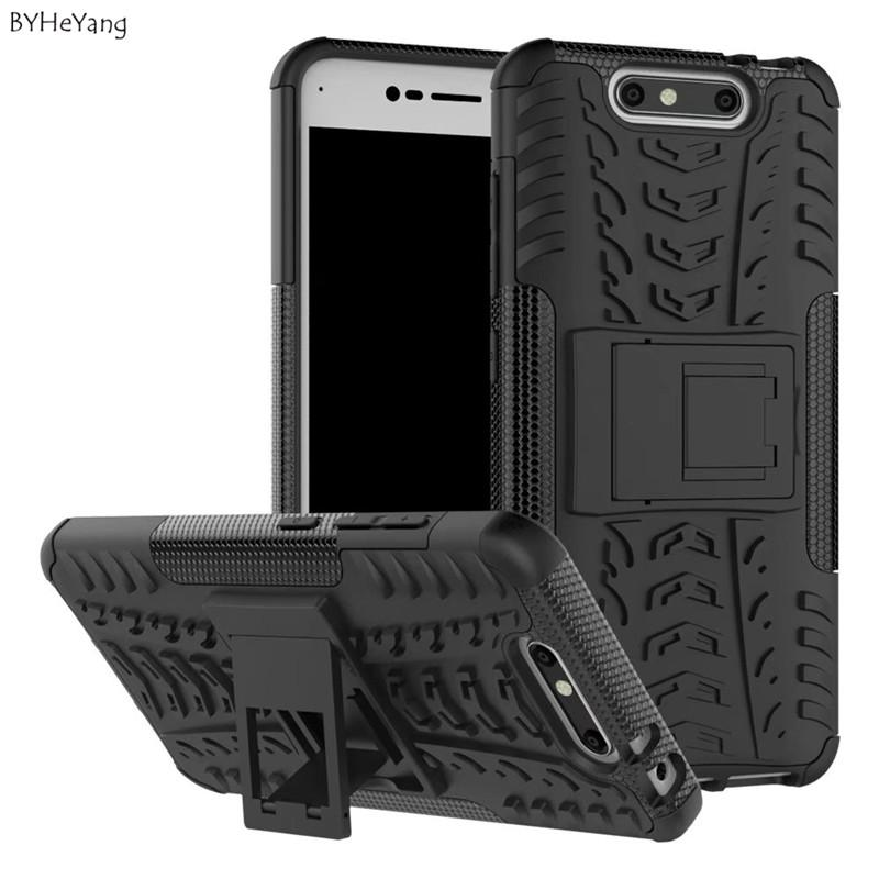"Mobile Phone Accessories Mobile Phone Cases Covers BYHeYang case For ZTE Blade V8 Case 5.2"" Heavy Duty Armor Stand Shock Hybrid Hard"
