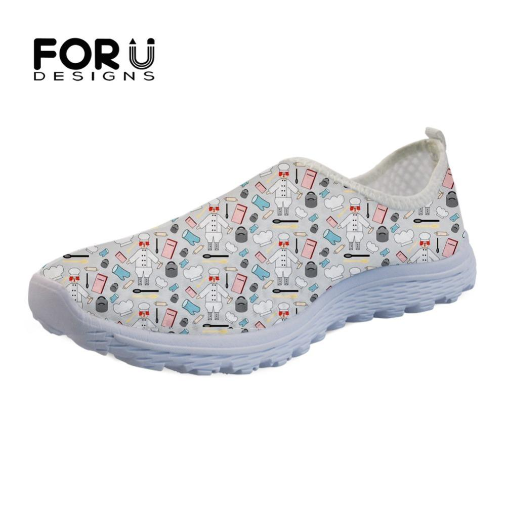 FORUDESIGNS Sneakers 3D Funny Cartoon Chef Design Women Flats Shoes Female  Lightweight Mesh Breathable Shoes For Summer Loafers Cheap Shoes Shoes For  Women ... 22ff0b20d