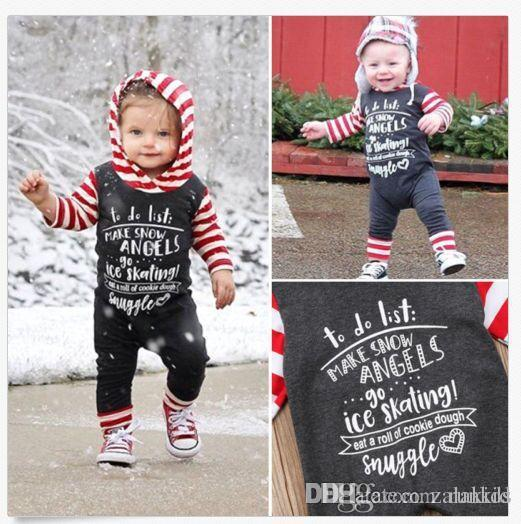 ce3f4e917 2018 Winther Autumn Baby Letters Printed Romper One-piece Clothing ...
