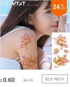 3d Fake flash Tattoos feather Body Art Waterproof Metallic Gold Temporary tattoo Sticker Peacock feather sleeve tatoo for women
