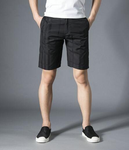 4655ab0031 Compre Barato 2019 Inglaterra Moda Hombre Pantalones Cortos A Cuadros  Verano Algodón Londres Brit Pantalones Cortos Board Trunks S XXL Negro  Verde Azul A ...