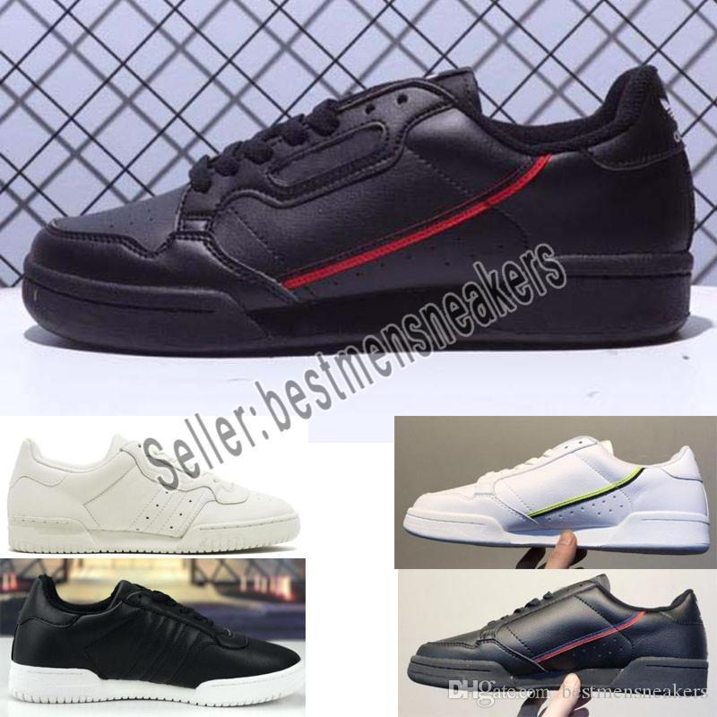 Compre Adidas Shoes La Mejor Calidad De Envío Directo Core Black Continental 80 Aero Blue Zapatillas De Running Gris OG Blanco Zapatillas De Deporte
