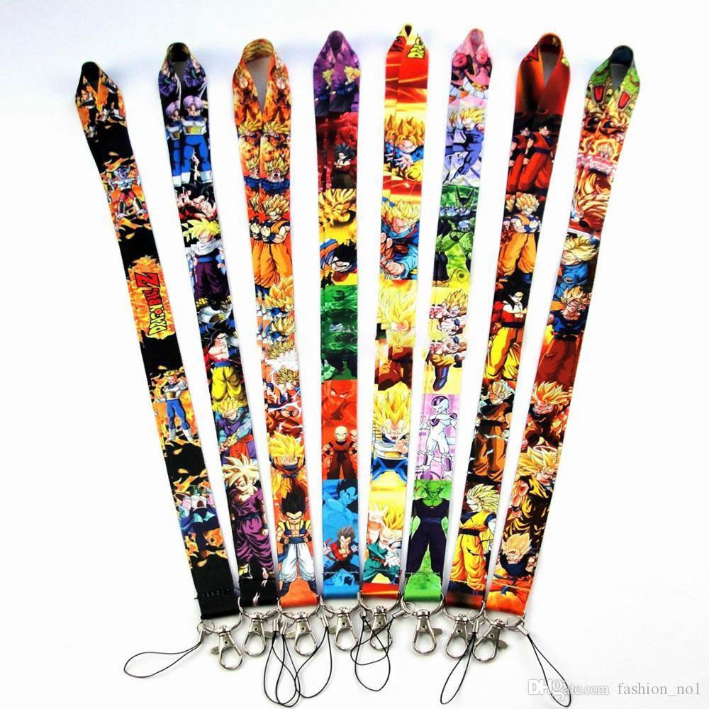 Dragon Ball Lanyards Cartoon Movie Badge Holder Llavero Correas Teléfono móvil Llavero Teléfono Cordones LJO6363