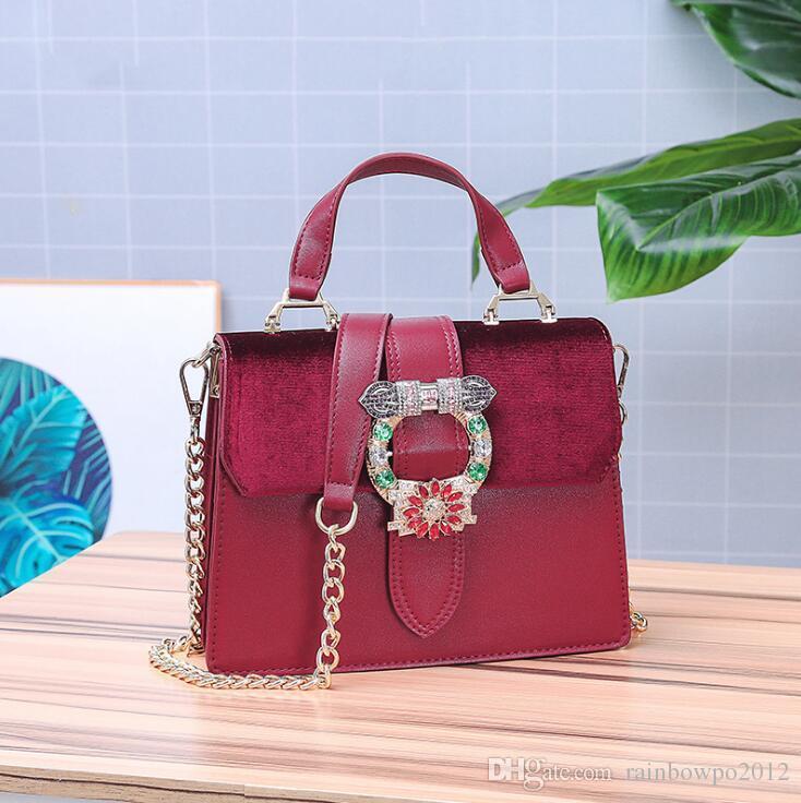 Sales Brand Women Handbag Winter New Gold Velvet Chain Bag Elegant ... 6ad847bacbf49