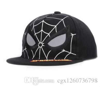 c9b750412bf45c Hot Children Spider Man Caps Summer Marvel Hero Hip Hop Caps Casual  Adjustable Cotton Embroidery Baseball Caps Mesh Hats Boys Girls Hats Caps  Online Hats ...
