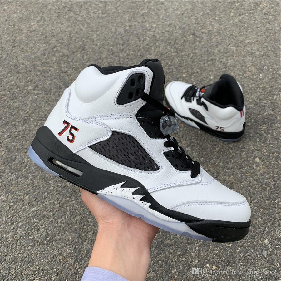 e248c69f1469 New 5 V White Paris Suede Men Basketball Shoes Sports Outdoor ...