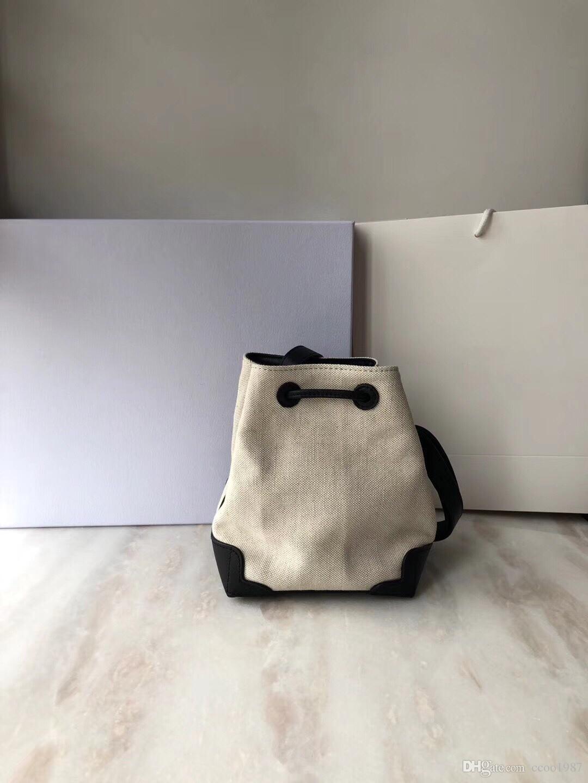 2018 newest high quality fabric bucket bag luxury designer handbags lady  fashion canvas drawstring crossbody shoulder mini bag free shopping