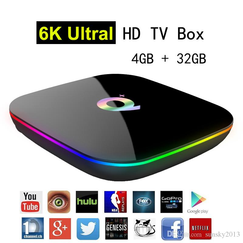 Allwinner H6 Android 9.0 TV Box 6K Ultral HD Streaming Media Player 4G 32G Quad Core Smart Mini PC 2.4G Wifi Q Plus Set Top Boxes USB 3.0