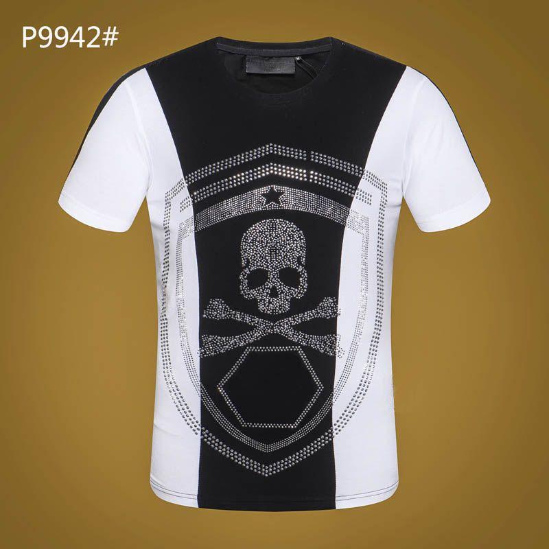 fe608b7373c9 2018 Hot Sell Casual Men Fashion Skulls Print Short Sleeve Tshirt Hip Hop  Tops Tees Streetwear T Shirts Men S Clothing T Shirt PP  2688 Tshirt Tshirts  From ...